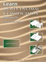 Learn Dewey Decimal Classification (Edition 23)